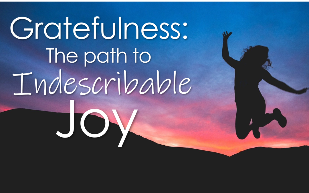 Gratefulness: The Path to Indescribable Joy